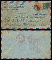 USA. 1948. NY - Cuba. Almendrales. Registr Fkd Env. Prexies. - United States