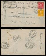 USA. 1921. Helpe - Rains / UTAH - UK. Registr Fkd Env With Contains. - United States