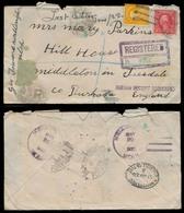 USA. 1922. Wellington / UTAH -UK. Registr Fkd Env With Contains. - United States