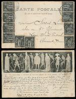 FRANCE. 1901. Puyenelay - Clermont Ferrand. Multifkd Sage 1c Card. - France