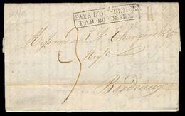 PERU. 1830 (12 March). Aria - France. EL Arrived By French Bateau To Bordeaux / Entry Maritime Box. Fine. - Peru