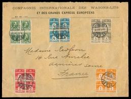 DENMARK. 1907. Kopenhagen - France. Spectacular Blocks Of Four Fkg. Comercial Correspondence. - Danemark