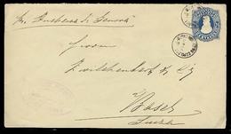 "ARGENTINA. 1891. Bs As - Switzerland. Registr 24c Blue Stat Env Endorsed ""per Duchessa Di Genova"" Steamer. Scarce Usage - Argentine"