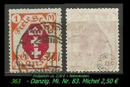 Mi. Nr. 83 In Gebraucht - - Danzig