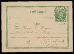 DUTCH INDIES. 1888. Soerabaja - Goejangan. 5c Green Stat Card. XF. - Indes Néerlandaises