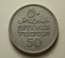 Palestine 50 Mils 1935 Silver - Monnaies