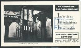 Cloitre De La Psalette Tours , Carbonesie Sulfaguanidine , Infections Intestinales , Laboratoire Beytout     - Ln31006 - Droguerías