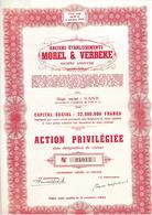 Anc. Ets Morel & Verbeke - Gent - Actions & Titres