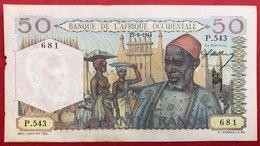 N°134 BILLET 50 FRANCS DE L'AFRIQUE OCCIDENTALE FRANCAISE 1944 - Côte D'Ivoire