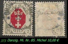 Mi. Nr. 85 In Gebraucht - Geprüft - GROSSMANNSDORF - Danzig