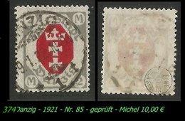 Mi. Nr. 85 In Gebraucht - Geprüft - DANZIG 1 T - Danzig