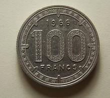 Equatorial African States 100 Francs 1966 Varnished - Monnaies