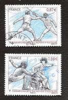 TIMBRES .FRANCAIS   OBLITERATION  RONDE .  CHAMPLONNAT D'ESCRIME 4510/4511 ..ANNEE 2010... - France