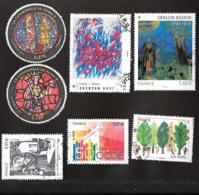 TIMBRES .FRANCAIS   OBLITERATION  RONDE .  LOT DE 7 ..4532-4537-4543-4549-4550-4551-4563 ..annee2011.... - France