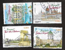 TIMBRES .FRANCAIS   OBLITERATION  RONDE .  CAPITALE EUROPEENNE.BUDAPEST .4538/4541..ANNEE 2011 - France
