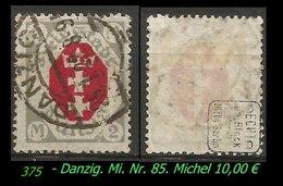 Mi. Nr. 85 In Gebraucht - Geprüft - Danzig