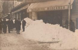 34/ Beziers -  Carte Photo Magasins Moderne Sous La Neige écrite Au Dos Janvier 1914 - Beziers