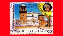 BOLIVIA - Usato - 1988 (1987) - Visita Del Papa Giovanni Paolo II - Chiesa Del Gesù, Machaca - 70 - Bolivia