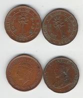 Sri Lanka  Ceylon 1/2 Cent 1926, 1937 - Sri Lanka