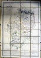 1837 Mapa Royaume De Aragon Formado Por AH Dufour Geografo En Paris Entoilée Atlas Nacional De Espana - Cartes Géographiques