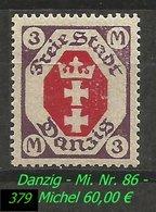 Mi. Nr. 86 In Postfrisch - Danzig