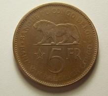 Belgian Congo 5 Francs 1936 - Congo (Belgian) & Ruanda-Urundi