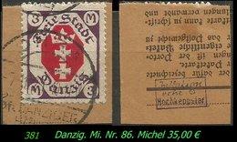 Mi. Nr. 86 In Gebraucht - Geprüft - Danzig