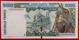 N°138 BILLET 5000 FRANCS DE COTE D'IVOIRE 2003 - Côte D'Ivoire