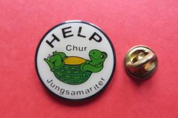 Pin's,HELP, Jungsamariter Chur,tortue,turtle,Schildkröte - Animaux