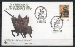 España. 1999. IX Centenario De La Muerte Del Cid Campeador. - Affrancature Meccaniche Rosse (EMA)
