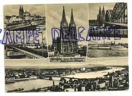 Allemagne. Grüsse Aus Der Domstadt. Koln Am Rhein. Mosaïque 1957. Bild-Verlag Horst Ziethen - Souvenir De...