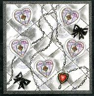 BF 66 Saint Valentin Coeur Chanel Avec Cachet à Date - Blocs & Feuillets