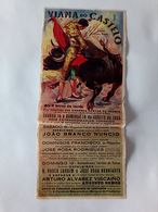 Portugal Affiche Corrida Viana Do Castelo Festas Da Agonia 1945 Bullfight Poster - Programs
