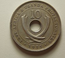 East Africa 10 Cents 1911 H - Afrique Orientale & Protectorat D'Ouganda