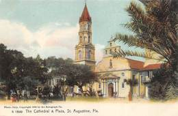 A-19-2510 : SAINT AUGUSTINE.  THE CATHEDRAL & PLAZA - St Augustine