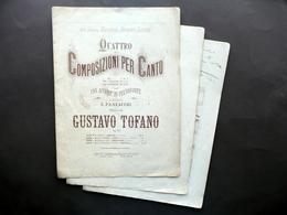 Spartito 4 Composizioni Per Canto Sul Fiume Panzacchi Tofano Lucca 1880 Circa - Non Classificati