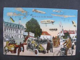 AK BRUCK A.d.Leitha In Der Zukunft Zeppelin 1916 //  D*36809 - Bruck An Der Leitha