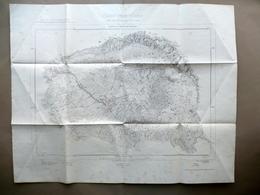 Grande Carta Cono Vesuviano Prima Eruzione 1906 IGM Congresso Venezia 1907 - Vieux Papiers