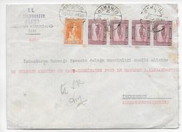 1930 - TURQUIE - ENVELOPPE CHARGEE De OSMANIYE => ALEXANDRETTE - SUPERBE CACHET De CIRE Au DOS ! - 1921-... Republic