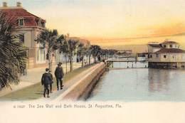 A-19-2515 : SAINT AUGUSTINE.  THE SEA WALL AND BATH HOUSE. - St Augustine