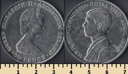 Ascension Island 50 Pence 1984 - Isla Ascensión