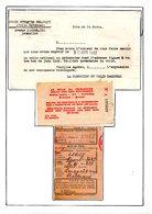 Croix-Rouge De Belgique  Colis Du Prisonnier De Guerre Stalag Et Oflag 1939/45 Talons De Controle+reçu De Colis - Documents