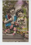 ENFANTS - LITTLE GIRL - MAEDCHEN - Jolie Carte Fantaisie Fillettes Et Poissons 1er Avril - Portraits