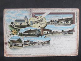 AK BAUMGARTEN A.d.March B. Gänserndorf Litho Schwidernoch 1903 //  D*36810 - Gänserndorf