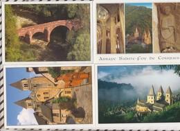9AL507 CONQUES ABBATIALE STE FOY Pont  Lot De 4 Cartes 2 SCANS - France