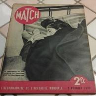 Match 2 Février 1939 Espagne Chute De Barcelone,Quai D'Orsay,Gibraltar,Pub J'ai Acheté Une Simca 8 Colette,Chiron Sommer - Livres, BD, Revues