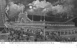 A-19-2526 : NIGHT SCENE ALONG THE BOARD WALK. ATLANTIC CITY. - Atlantic City