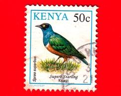 KENIA - Usato - 1993 - Uccelli - Storno - Birds - Lamprotornis Superbus - 50 C - Kenia (1963-...)