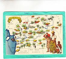 CANEROUN  CARTE ( Departements  DOM TOM Colonies Francaises ) - Cartes Géographiques