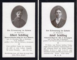 Ardennes. 1918. CHEMERY. Sterbebild Avis Décès Soldat Allemand - 1914-18